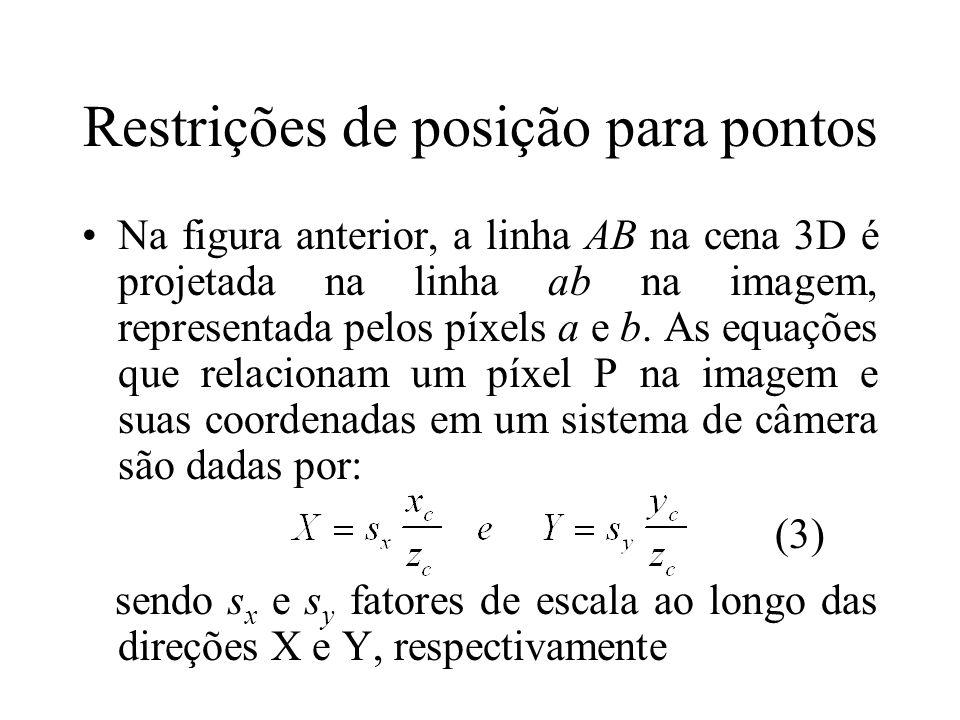 Restrições de posição para pontos