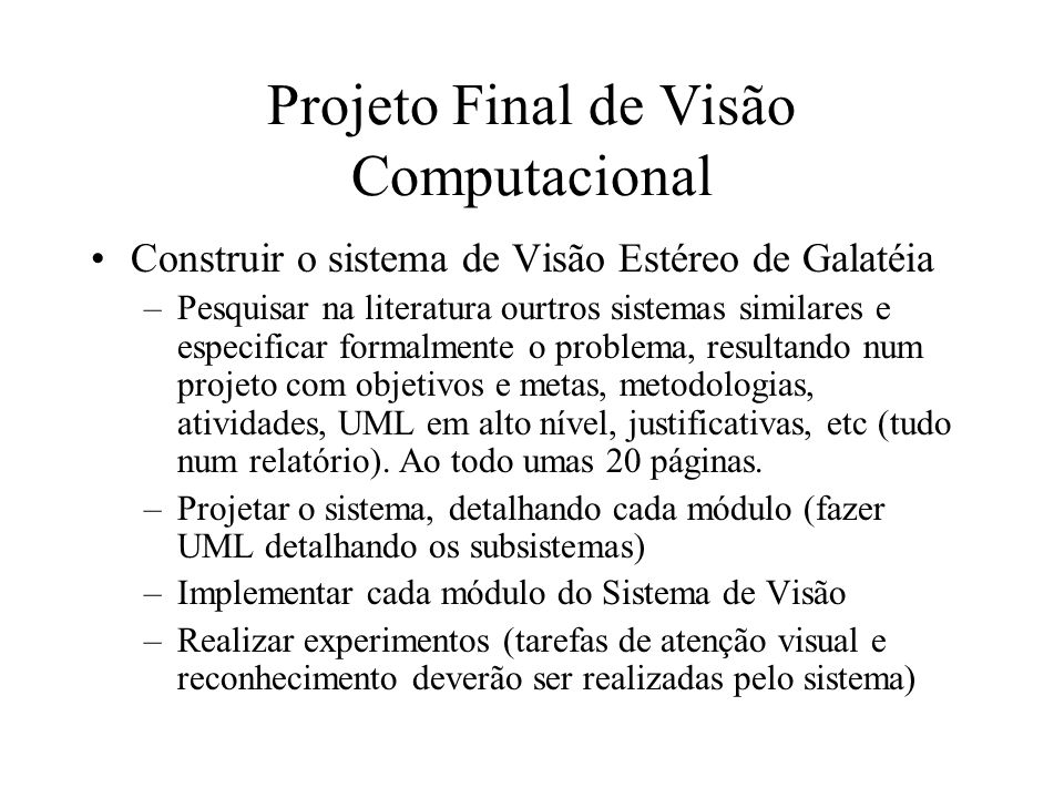 Projeto Final de Visão Computacional