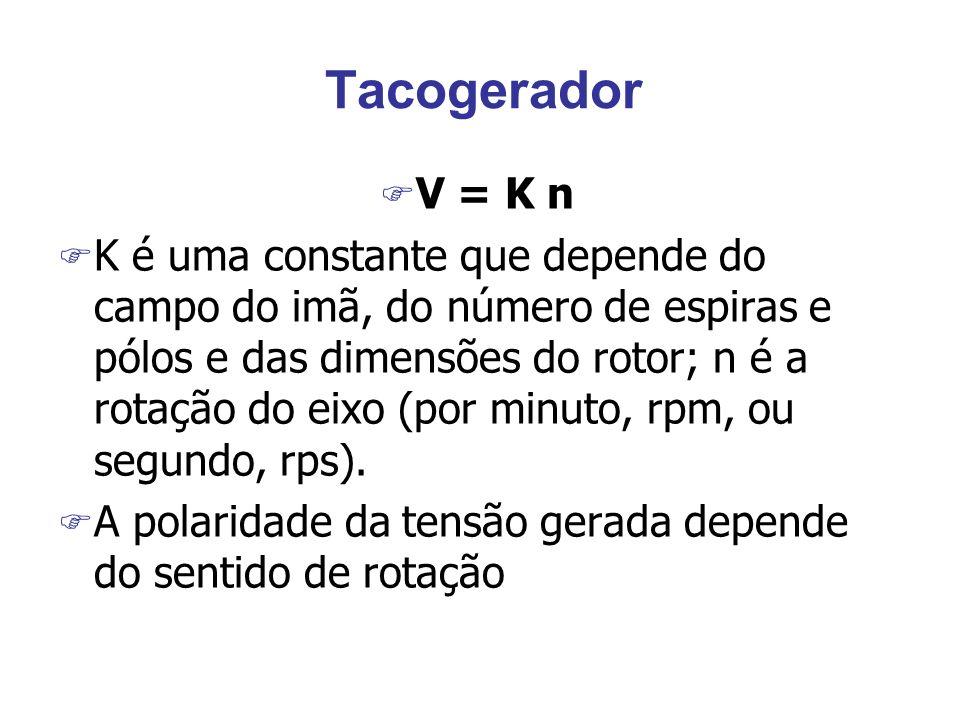 Tacogerador V = K n.