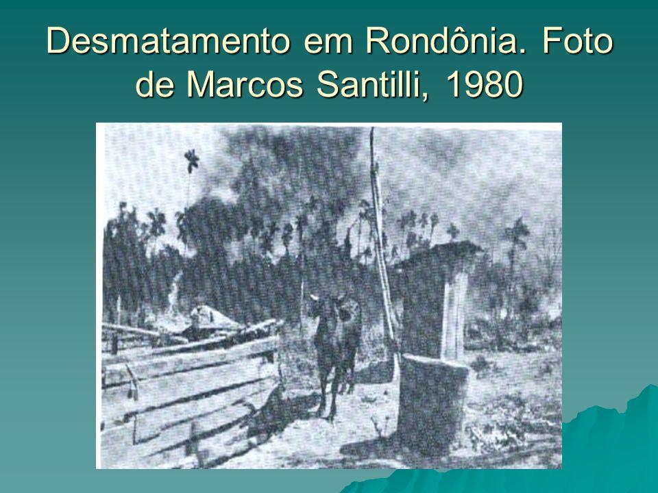 Desmatamento em Rondônia. Foto de Marcos Santilli, 1980