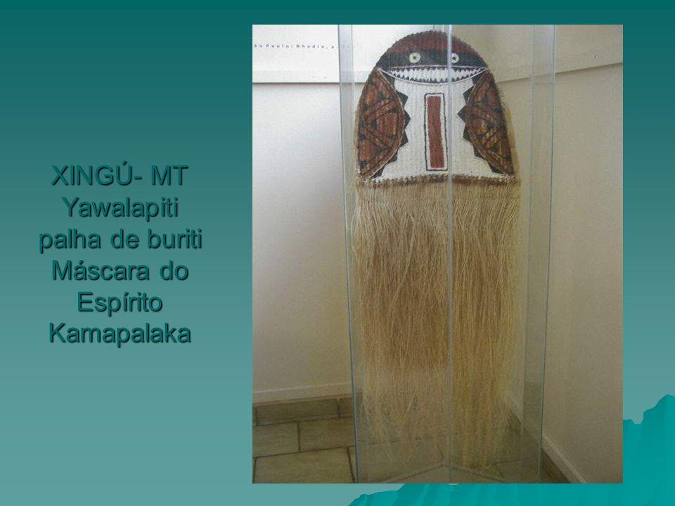 XINGÚ- MT Yawalapiti palha de buriti Máscara do Espírito Kamapalaka