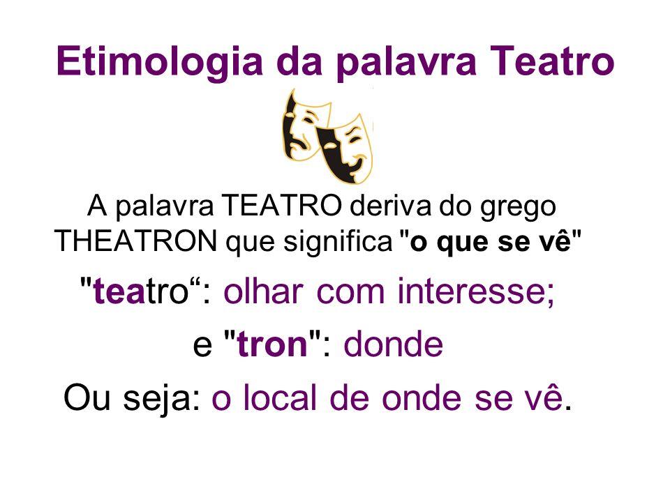 Etimologia da palavra Teatro