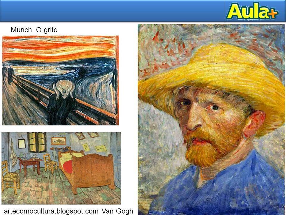 Munch. O grito artecomocultura.blogspot.com Van Gogh