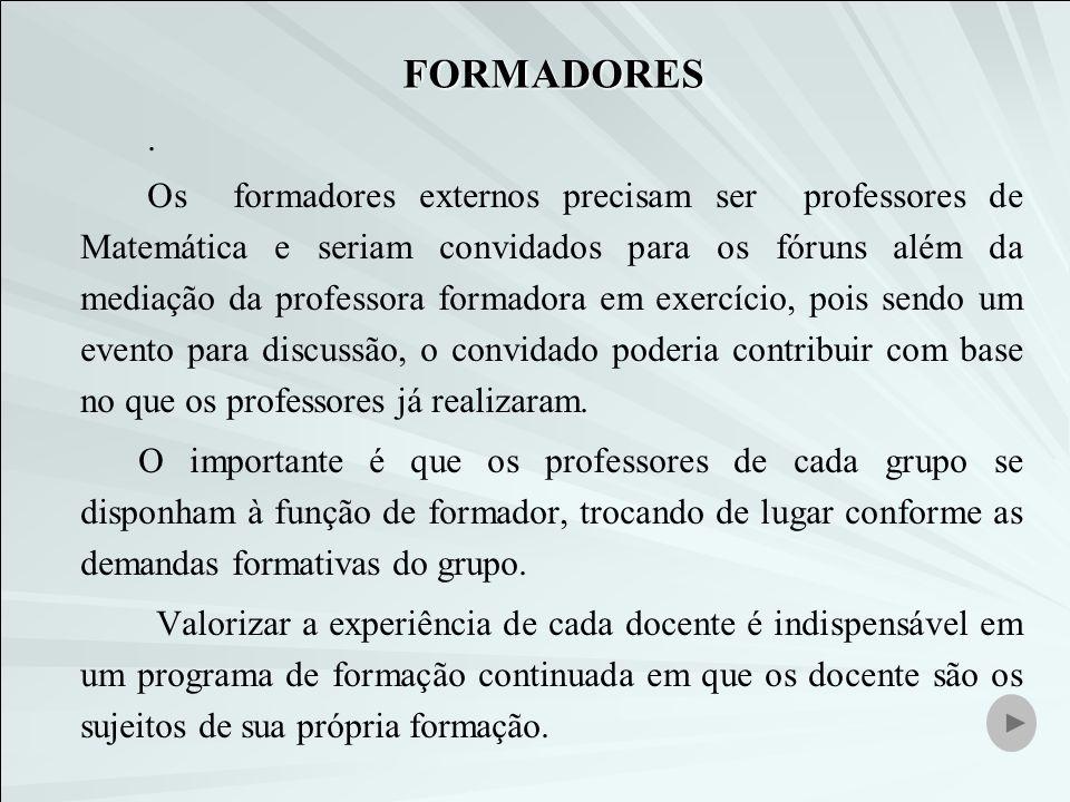 FORMADORES.