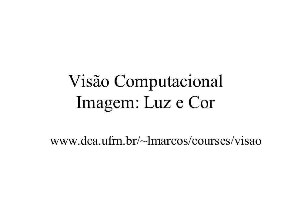 Visão Computacional Imagem: Luz e Cor