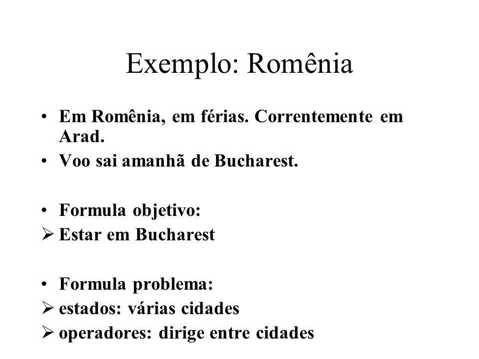Exemplo: Romênia Em Romênia, em férias. Correntemente em Arad.