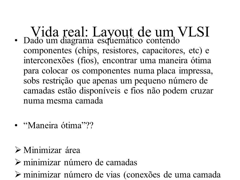 Vida real: Layout de um VLSI