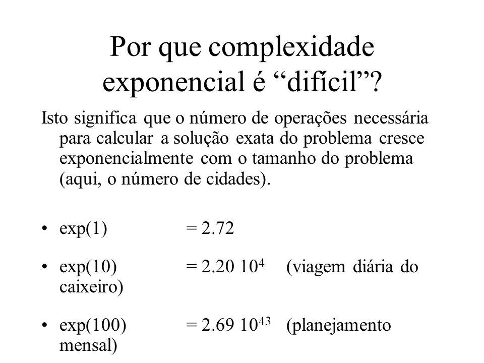 Por que complexidade exponencial é difícil