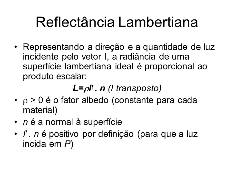 Reflectância Lambertiana