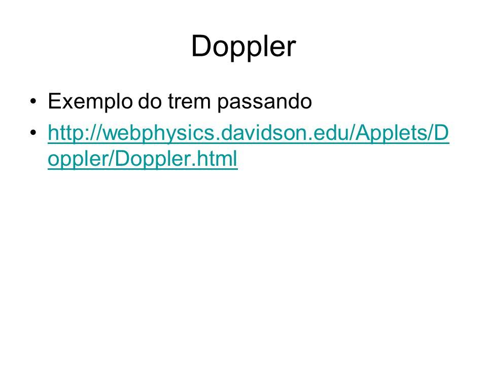 Doppler Exemplo do trem passando