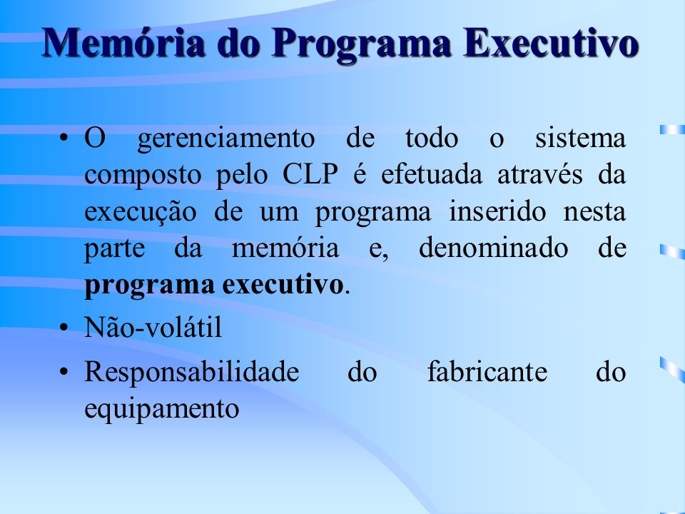 Memória do Programa Executivo