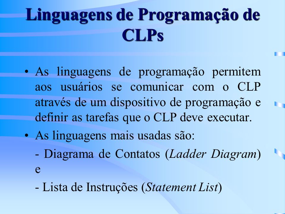 Linguagens de Programação de CLPs