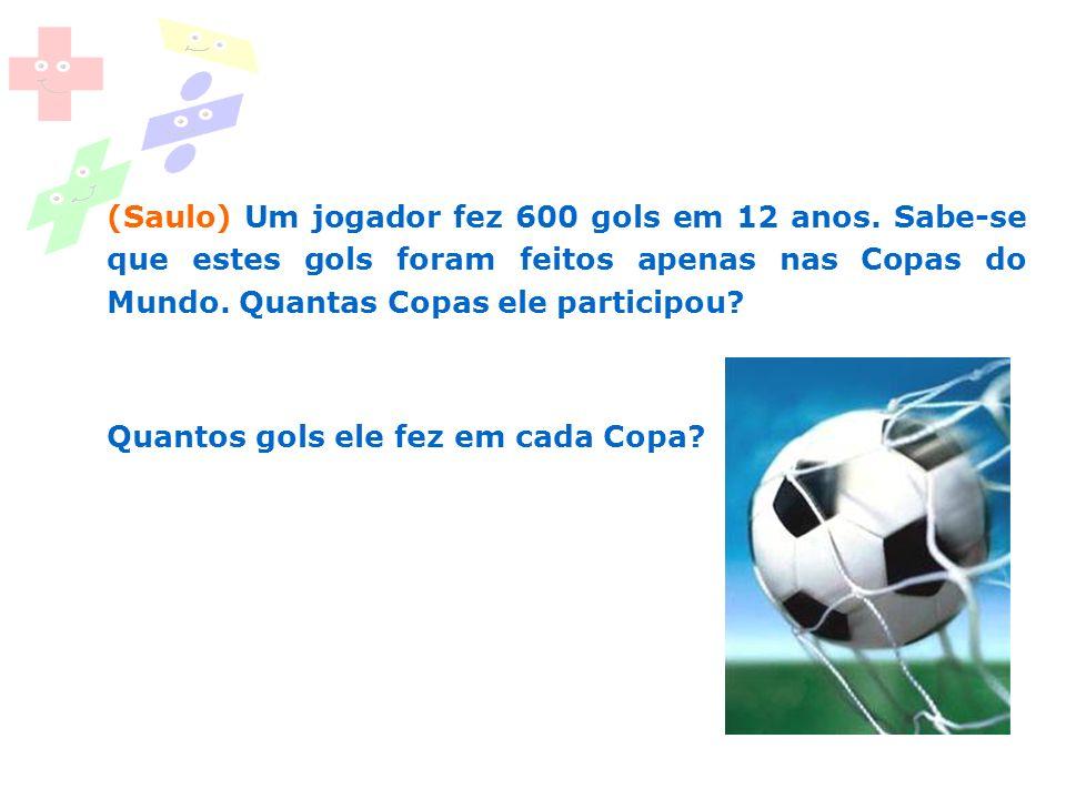 (Saulo) Um jogador fez 600 gols em 12 anos