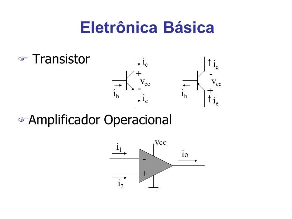 Eletrônica Básica Transistor Amplificador Operacional ib ic ie + - vce