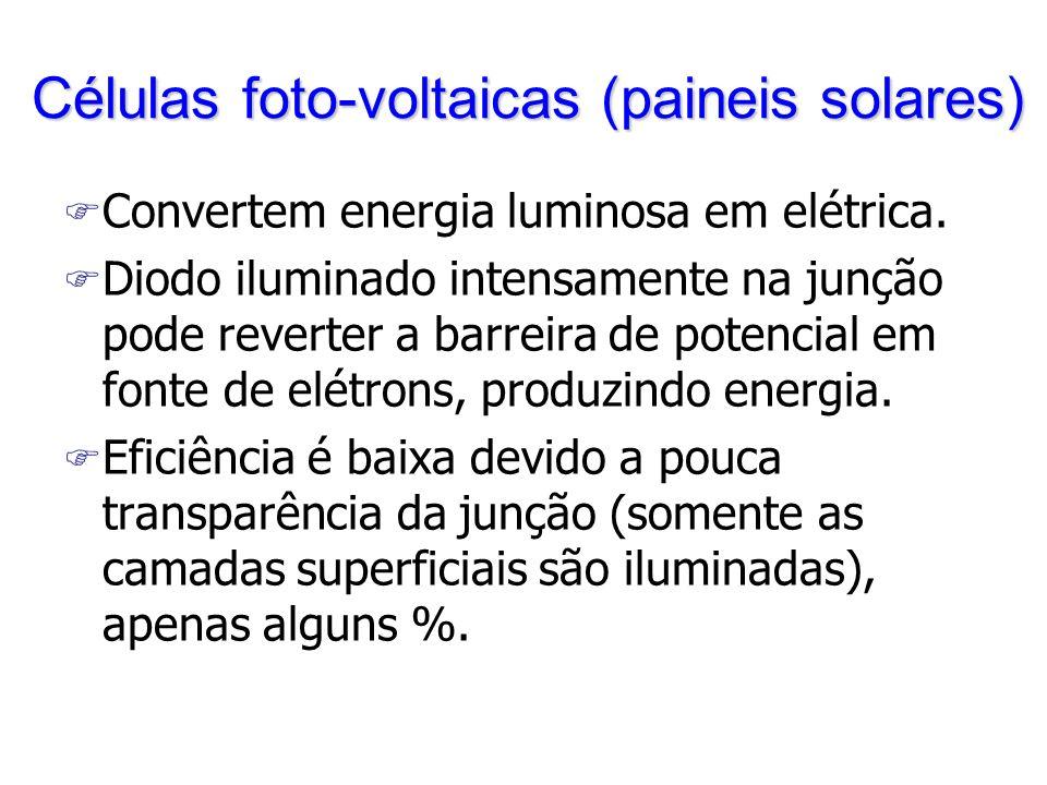 Células foto-voltaicas (paineis solares)