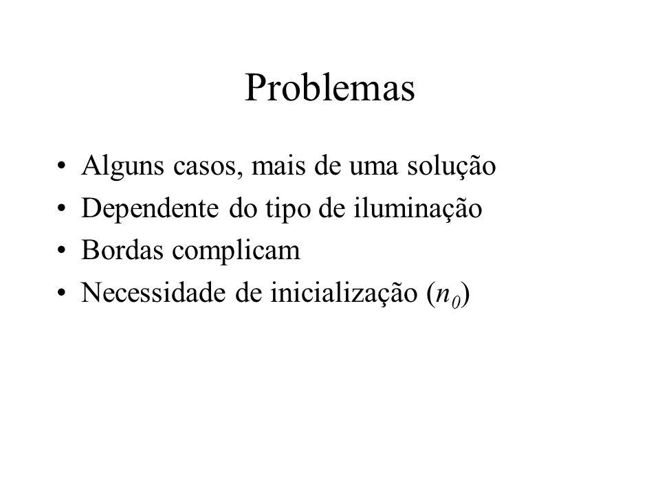 Problemas Alguns casos, mais de uma solução