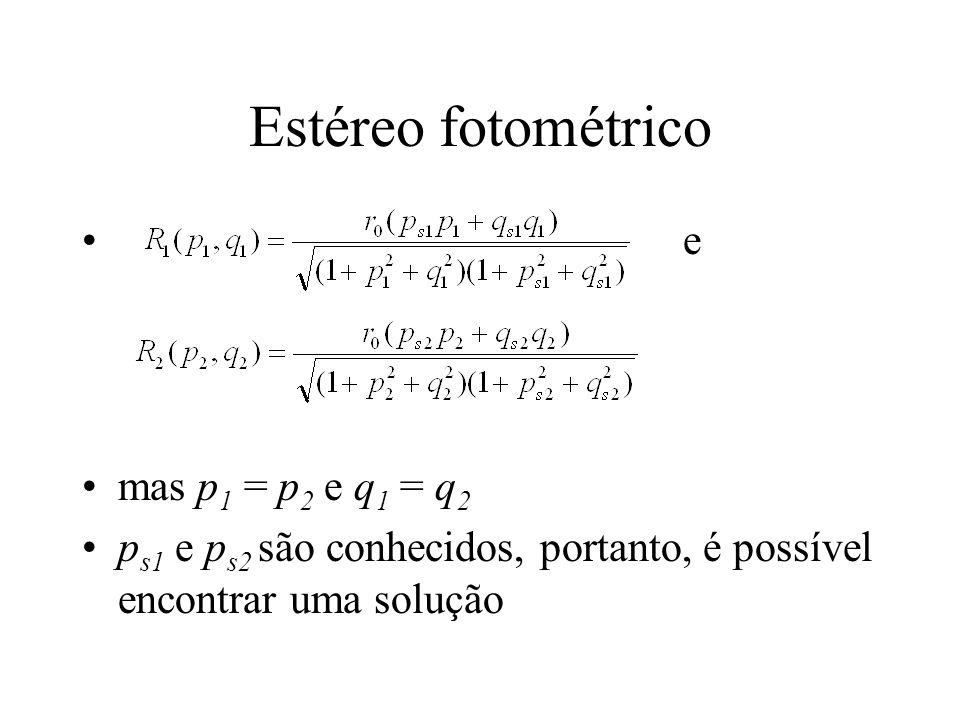 Estéreo fotométrico e mas p1 = p2 e q1 = q2