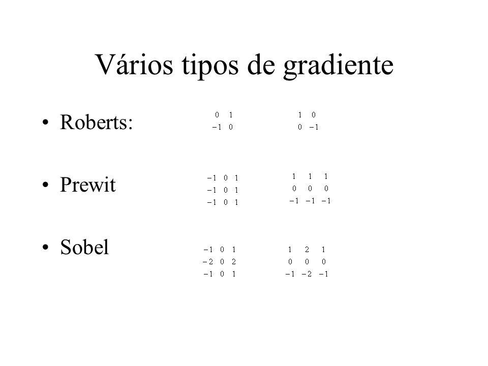 Vários tipos de gradiente