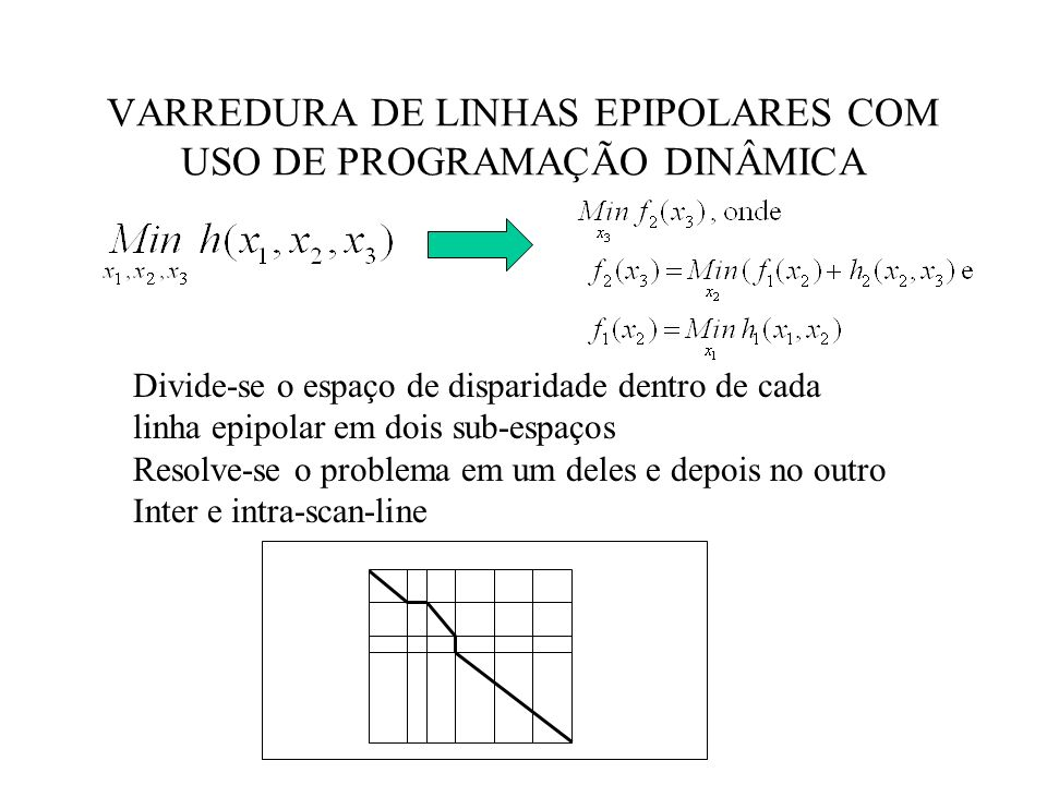 VARREDURA DE LINHAS EPIPOLARES COM USO DE PROGRAMAÇÃO DINÂMICA
