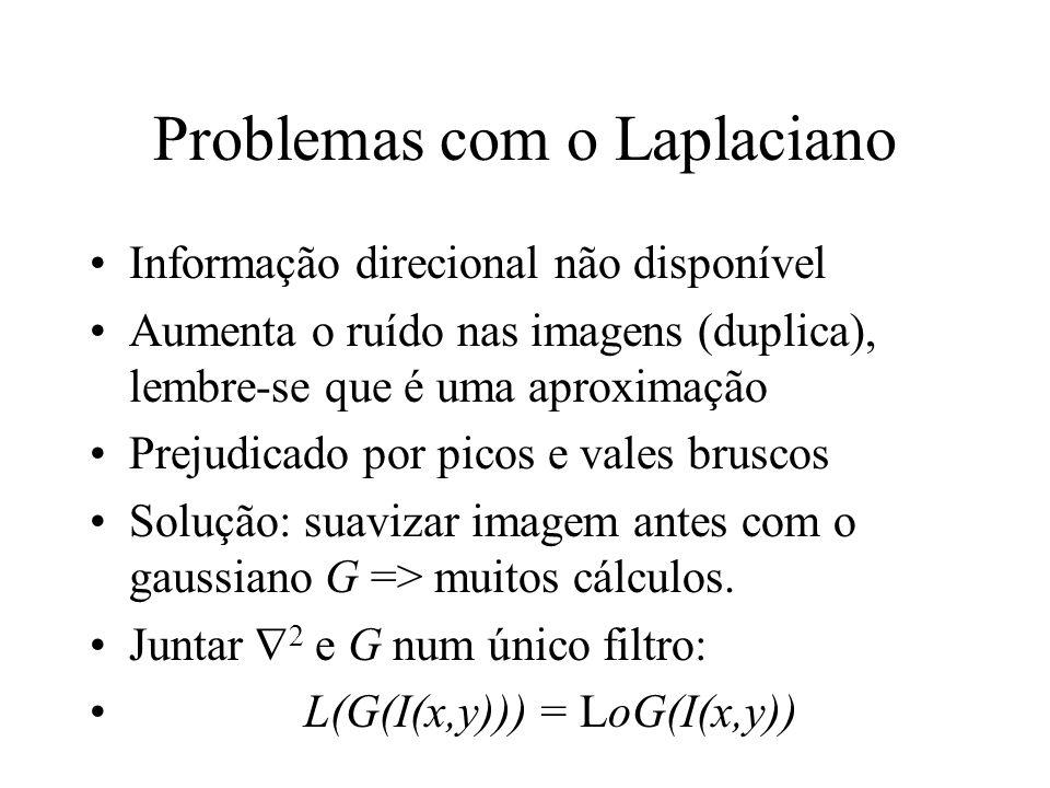 Problemas com o Laplaciano