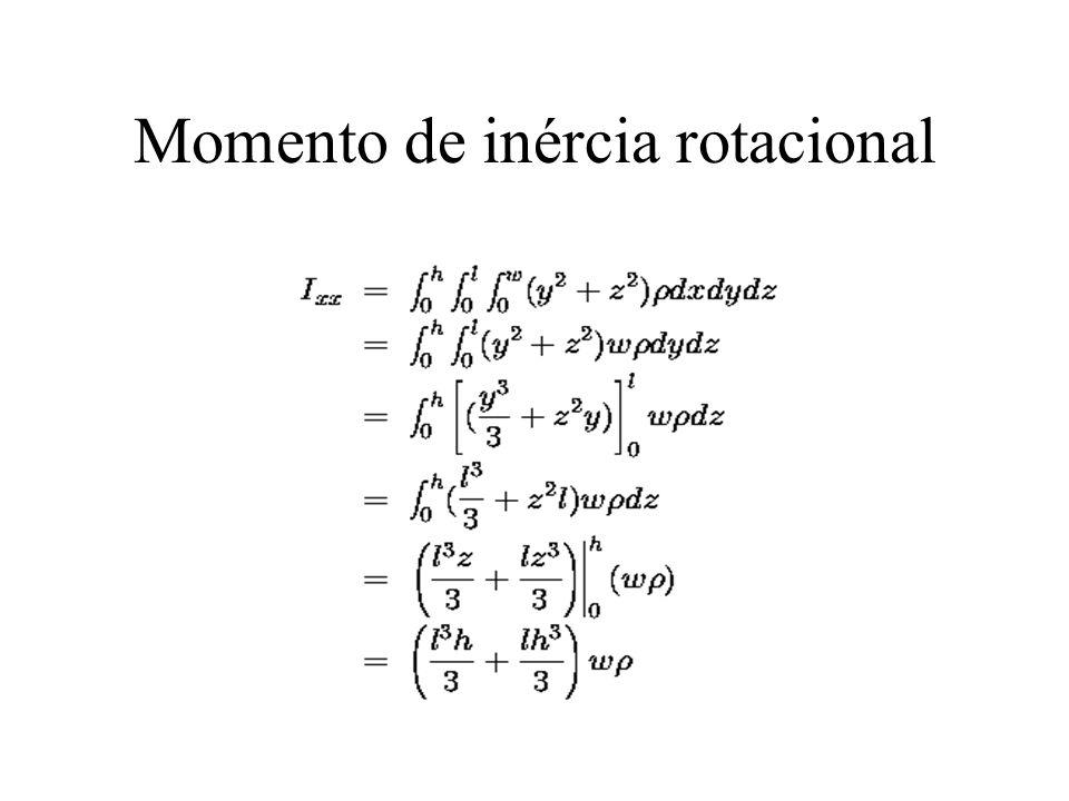 Momento de inércia rotacional