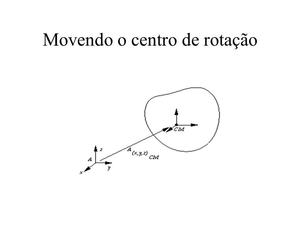 Movendo o centro de rotação