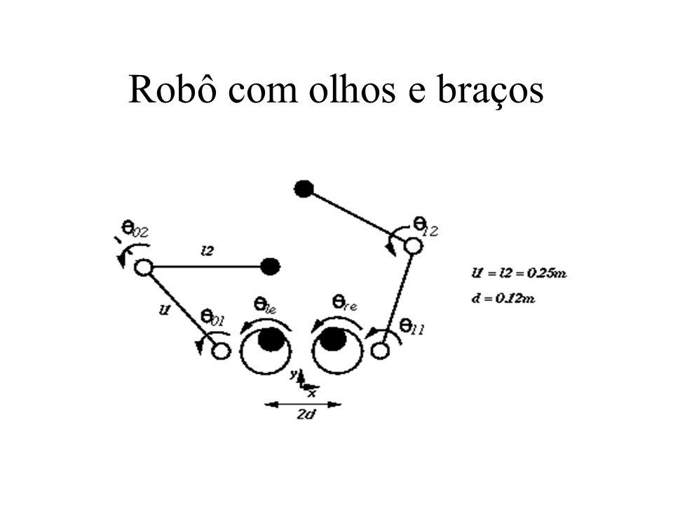 Robô com olhos e braços