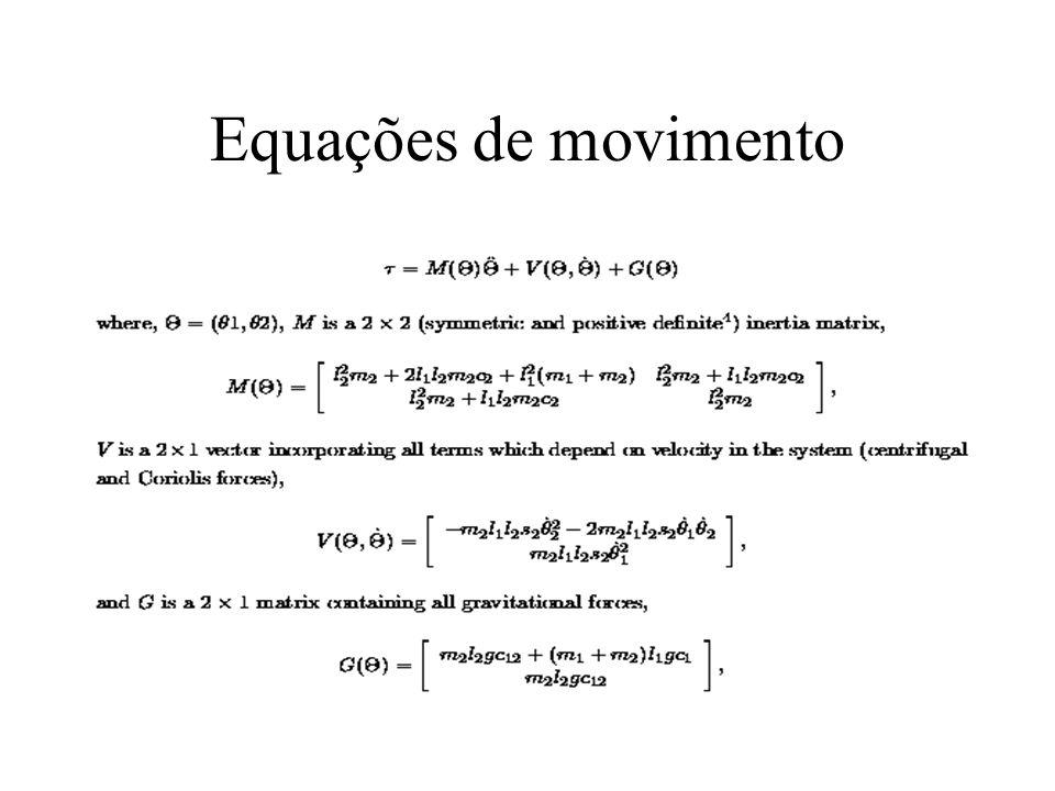 Equações de movimento