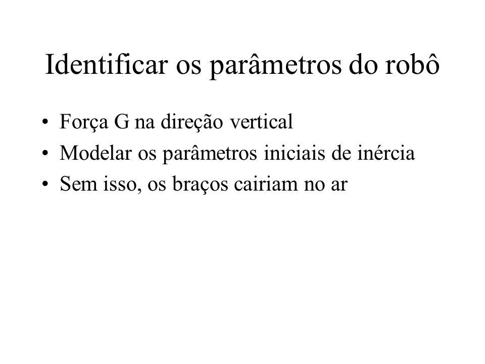 Identificar os parâmetros do robô