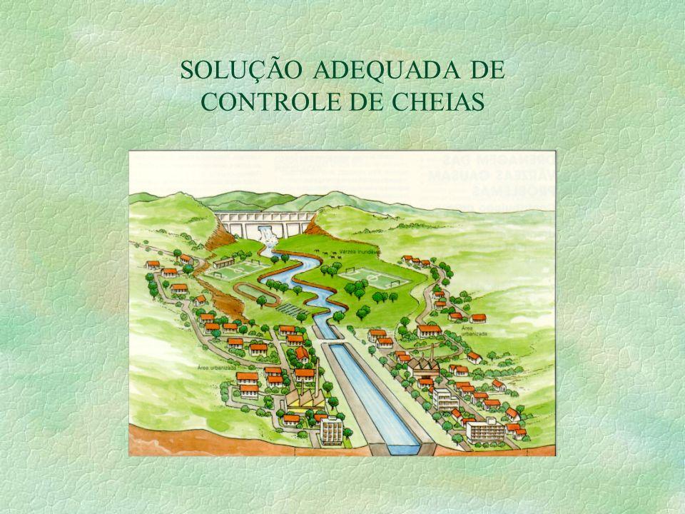SOLUÇÃO ADEQUADA DE CONTROLE DE CHEIAS
