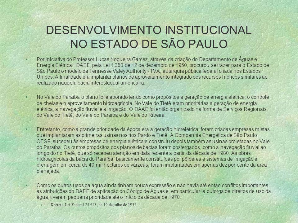 DESENVOLVIMENTO INSTITUCIONAL NO ESTADO DE SÃO PAULO