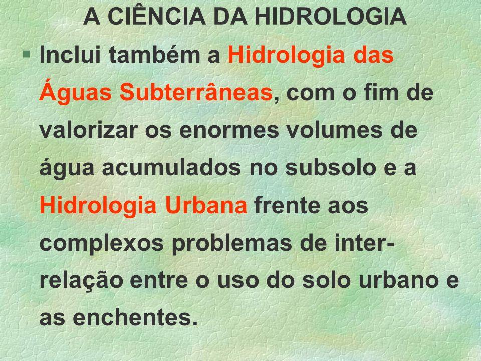 A CIÊNCIA DA HIDROLOGIA