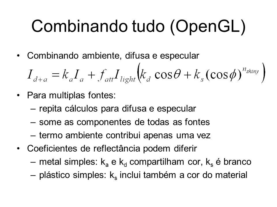 Combinando tudo (OpenGL)
