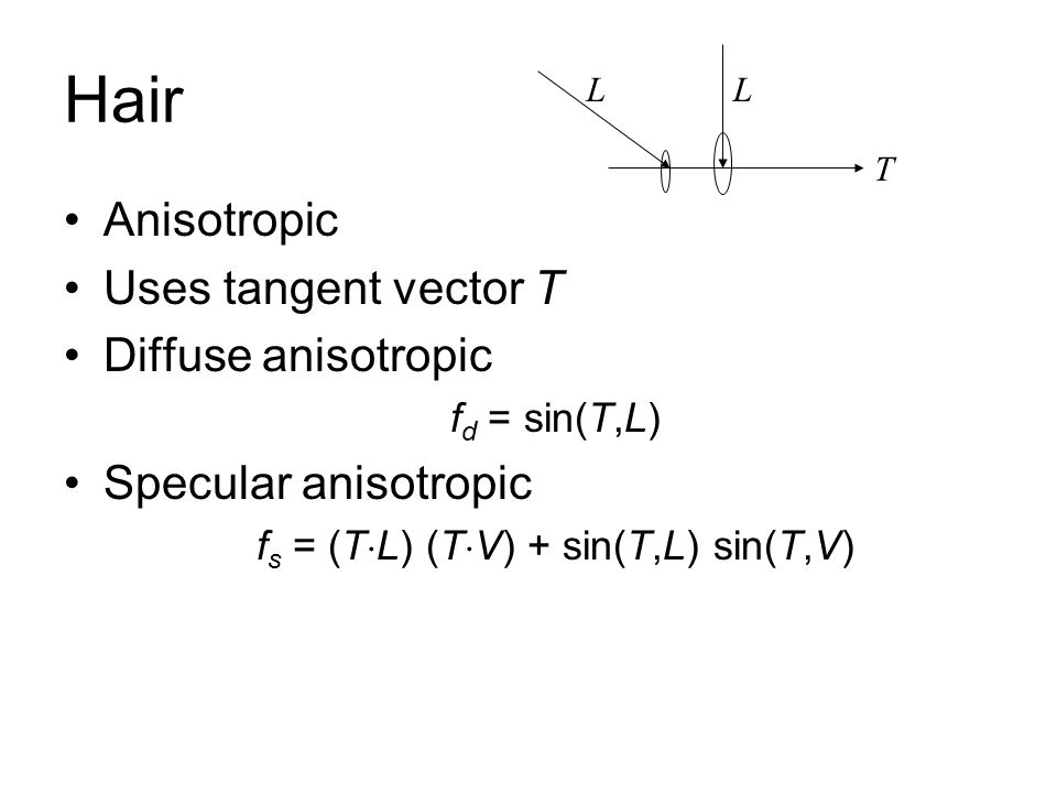 fs = (TL) (TV) + sin(T,L) sin(T,V)