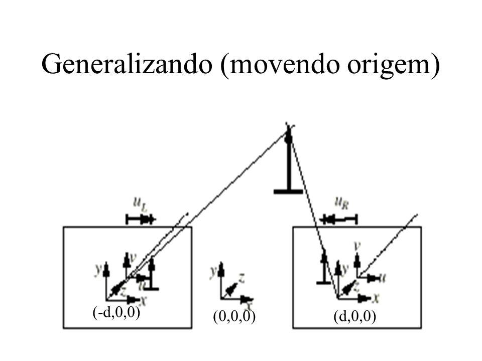 Generalizando (movendo origem)