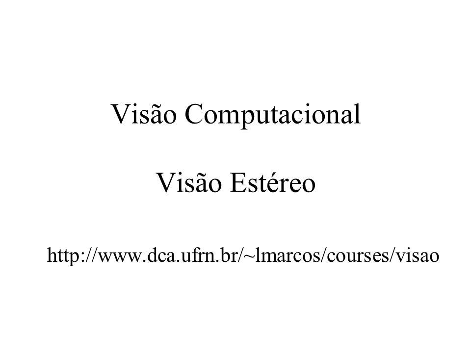 Visão Computacional Visão Estéreo