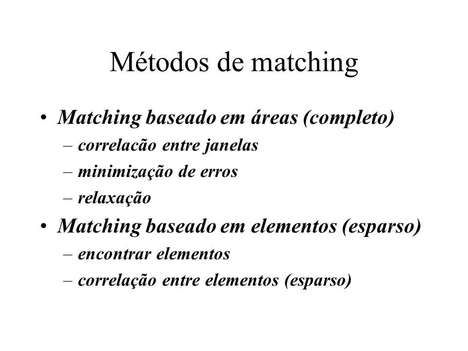 Métodos de matching Matching baseado em áreas (completo)
