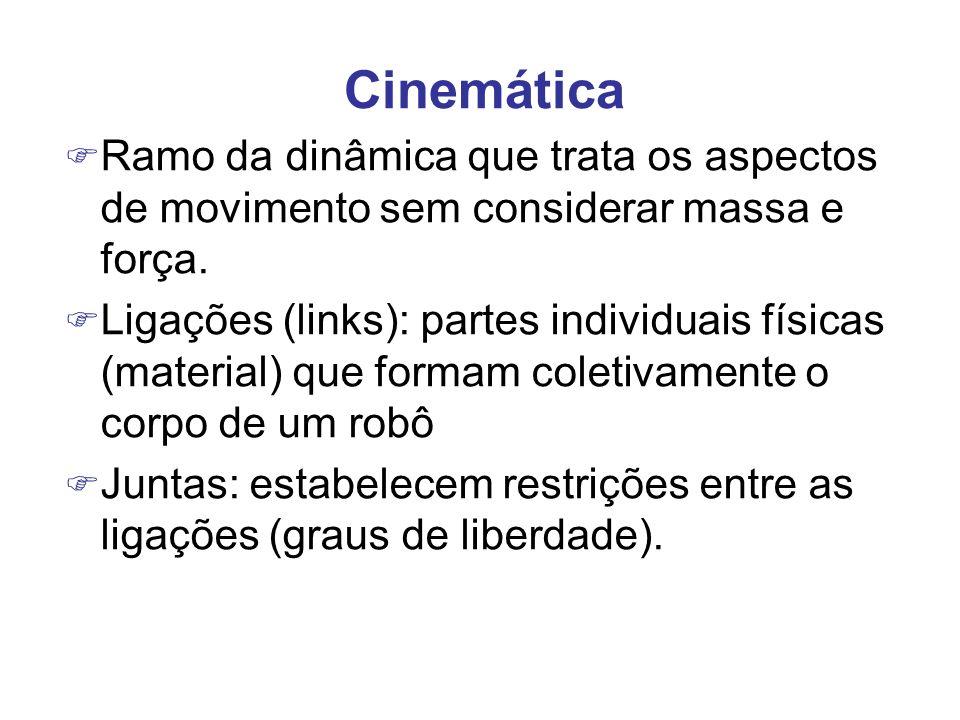 Cinemática Ramo da dinâmica que trata os aspectos de movimento sem considerar massa e força.