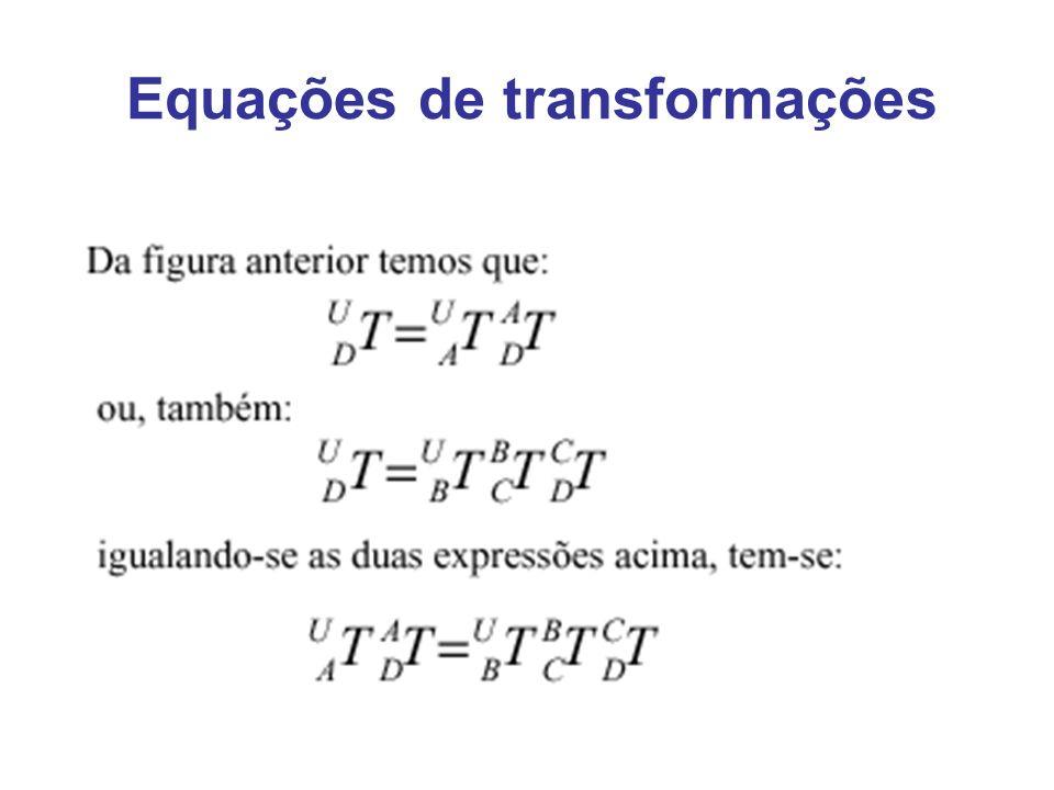 Equações de transformações