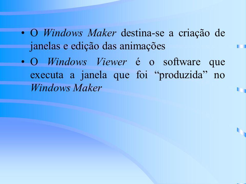 O Windows Maker destina-se a criação de janelas e edição das animações