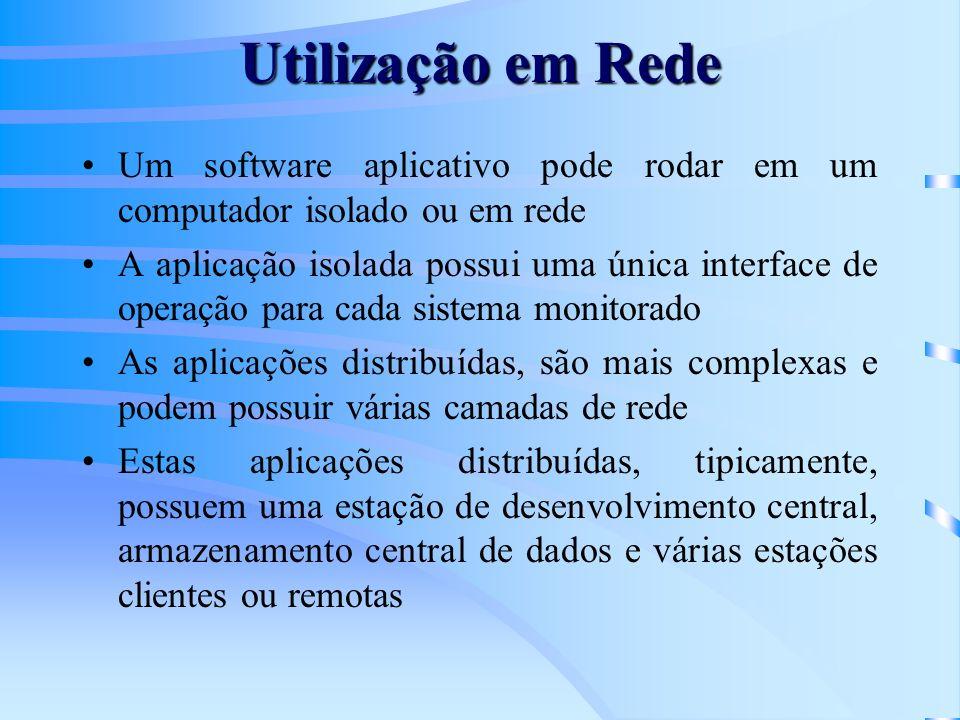 Utilização em Rede Um software aplicativo pode rodar em um computador isolado ou em rede.