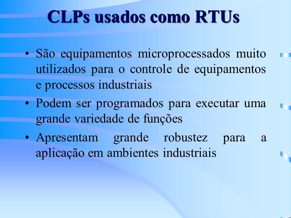 CLPs usados como RTUs São equipamentos microprocessados muito utilizados para o controle de equipamentos e processos industriais.