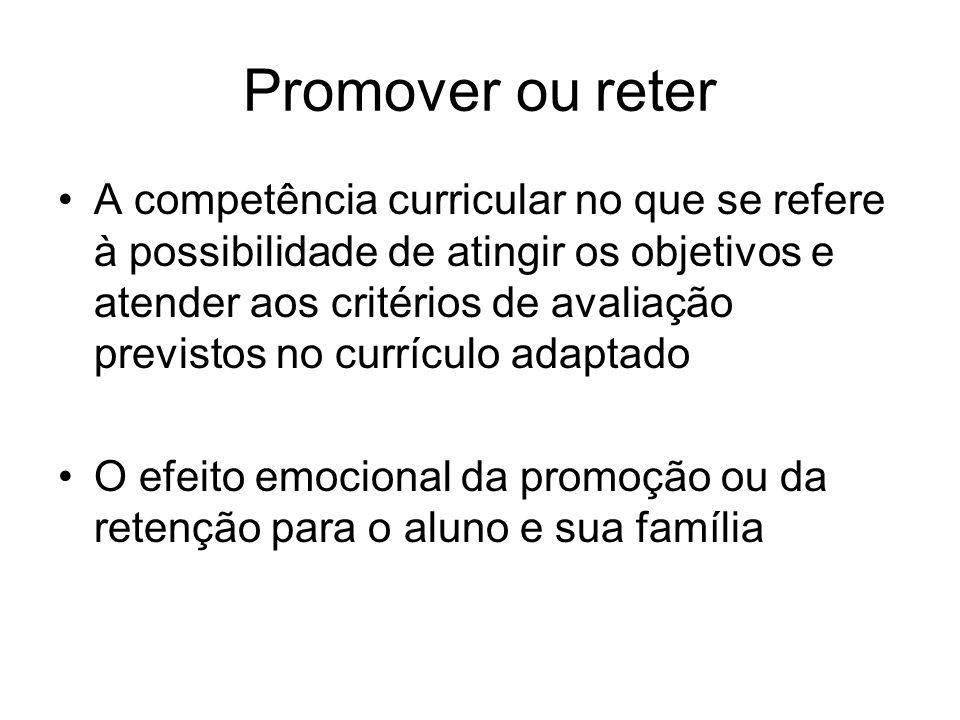 Promover ou reter