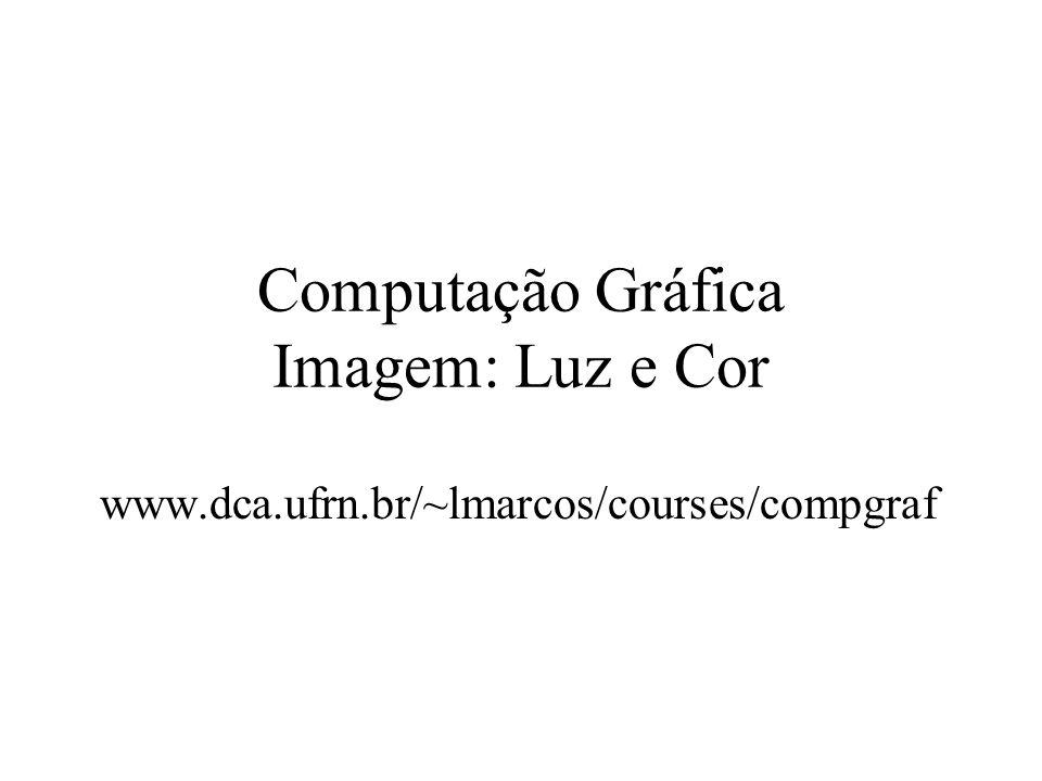 Computação Gráfica Imagem: Luz e Cor