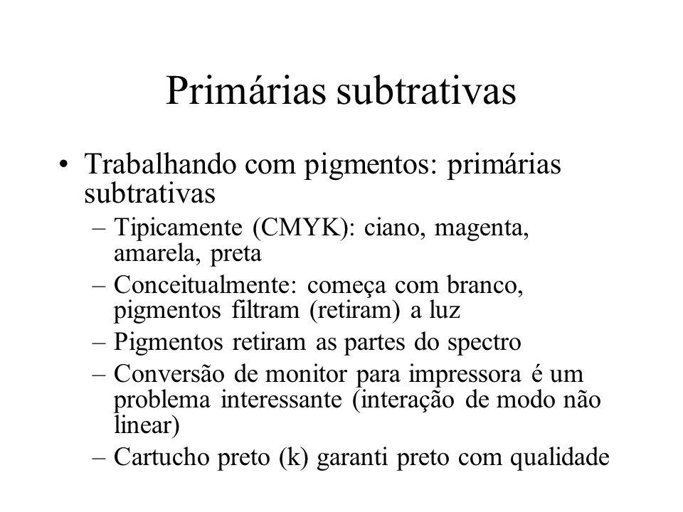 Primárias subtrativas