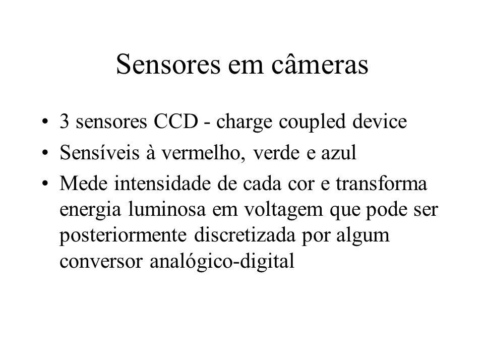 Sensores em câmeras 3 sensores CCD - charge coupled device