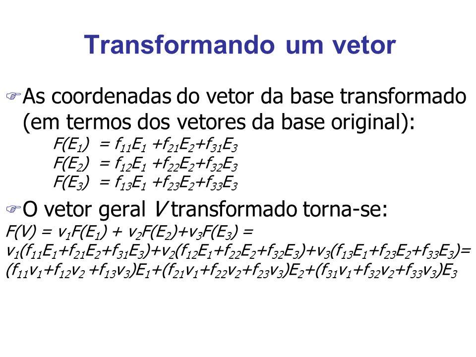 Transformando um vetor