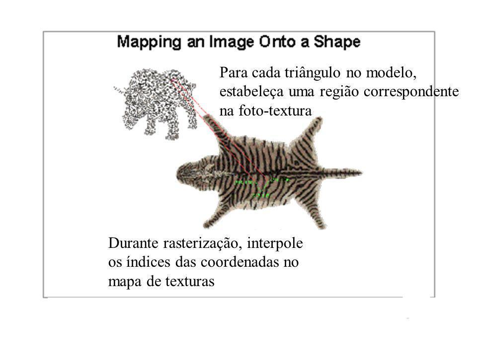 Para cada triângulo no modelo,