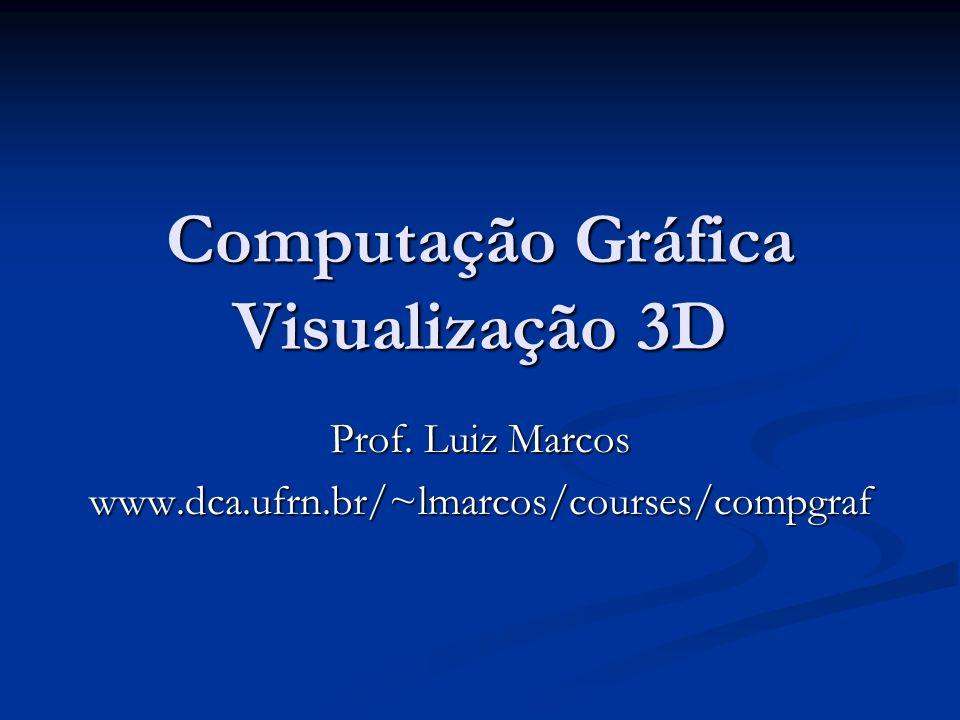 Computação Gráfica Visualização 3D