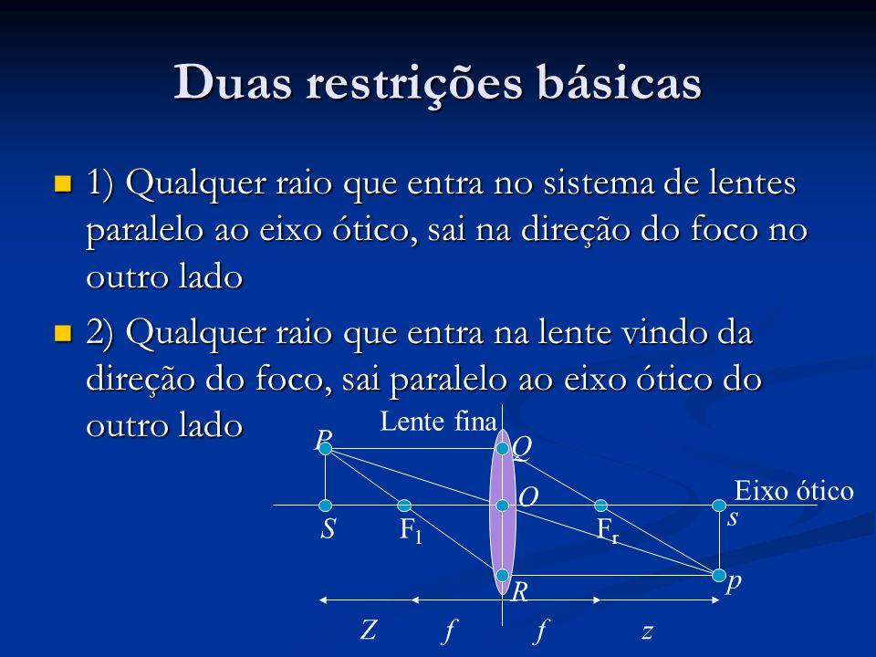 Duas restrições básicas